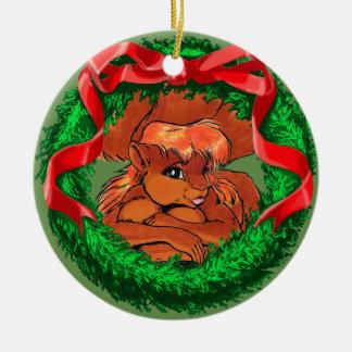 Mariah das Squirreltaur Keramik Ornament