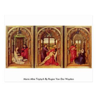 Marie Altar-Triptychon durch Rogier van der Weyden Postkarte