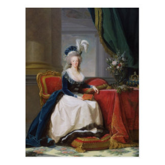 Marie-Antoinette 1788 Postkarte