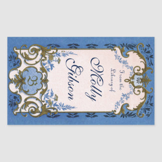 Marie Antoinette's Blue Bookplate