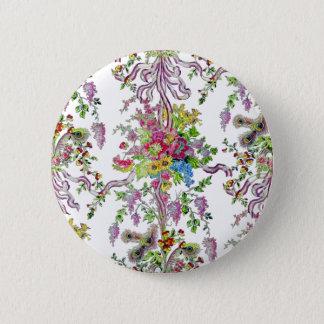 Marie Antoinette Boudoir Runder Button 5,1 Cm