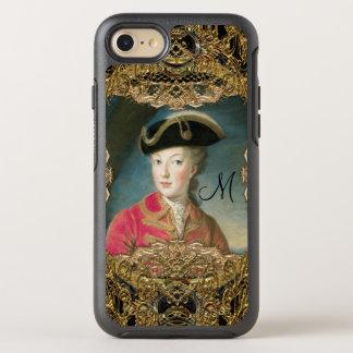Marie Antoinette hübsches Jugend-Monogramm OtterBox Symmetry iPhone 8/7 Hülle