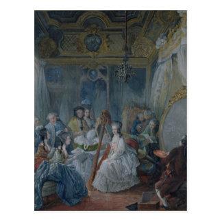 Marie Antoinette in ihrer Kammer in Versailles Postkarte