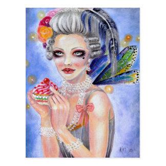 Marie Antoinette - Königin der kleiner Kuchen Postkarte
