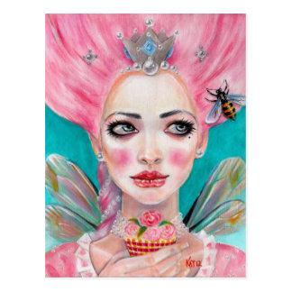 Marie Antoinette Kuchen-Fee - Königin-Biene Postkarte