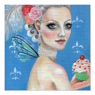 Marie Antoinette ließ sie Kuchen essen Quadratische 13,3 Cm Einladungskarte