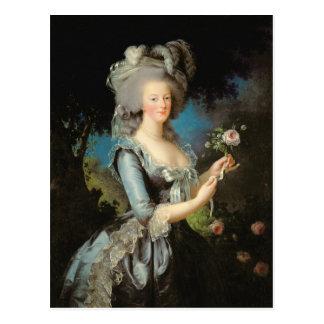 Marie Antoinette mit einer Rose, 1783 Postkarte