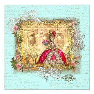 Marie Antoinette Party an Versailles-Einladung
