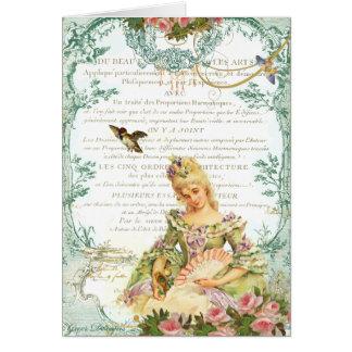 Marie Antoinette u. Spatz Grußkarten