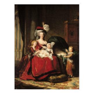 Marie-Antoinette und ihre Kinder, 1787 Postkarten