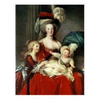 Marie-Antoinette und ihre vier Kinder, 1787 Postkarte