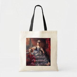 Marie Antoinette Zitat-Tasche Budget Stoffbeutel