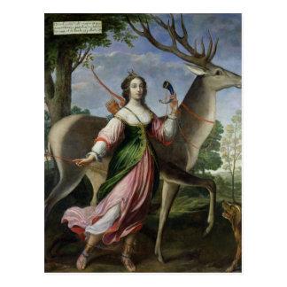 Marie de Rohan-Montbazon Herzogin von Chevreuse Postkarte