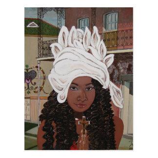 Marie Laveaux im französischen Viertel Postkarte