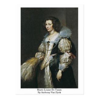 Marie-Louise De Tassis By Anthony Van Dyck Postkarte