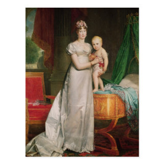 Marie Louise und der König von Rom Postkarte