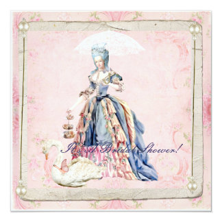 Marie und eine Schwan-Brautpartyeinladung Quadratische 13,3 Cm Einladungskarte