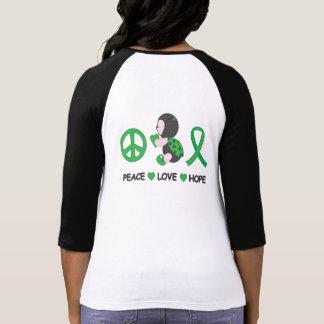 Marienkäfer-FriedensLiebe-Hoffnungs-Grün-Bewusstse Hemd