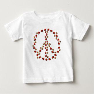 Marienkäfer-FriedensSäuglings-T - Shirt