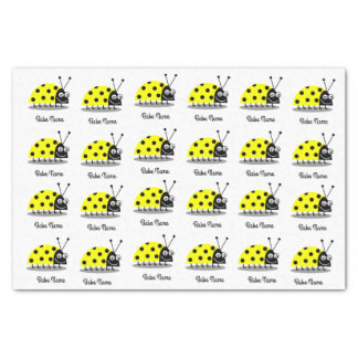 Marienkäfer-Gelb Seidenpapier