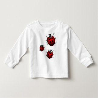 Marienkäfer-Kleinkind-Shirt-niedliche Kleinkinder T-shirt