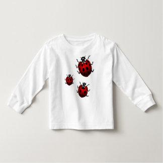Marienkäfer-Kleinkind-Shirt-niedliche Hemd