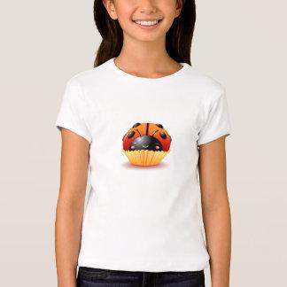 Marienkäfer-Kuchen-Mädchen-Shirt T-Shirt