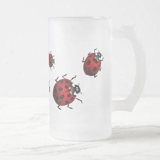 Marienkäfer-Kunst-Bier-Tassen-Bier-Glas-Marienkäfe