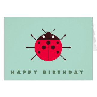 Marienkäfer-/Marienkäfer-alles Gute zum Geburtstag Karte