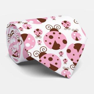 Marienkäfer (Marienkäfer, Dame Käfer) - rosa Brown Krawatte