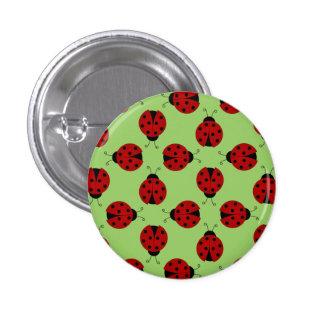 Marienkäfer-Muster-Knopf Runder Button 2,5 Cm