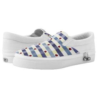 Marienkäfer-Picknick-Gingham Slip-On Sneaker