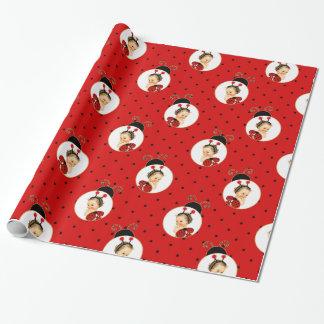 Marienkäfer-Thema-Baby-Rot u. schwarze Flecken Geschenkpapier