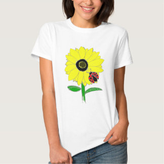 Marienkäfer u. Sonnenblume T Shirts