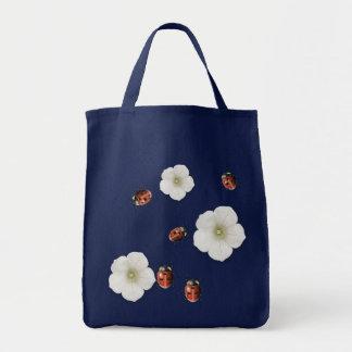 Marienkäfer-und Blumen-Tasche Tragetasche