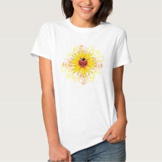 Marienkäfer-und Sonnenblume-Damen-Shirt T-shirt