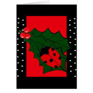Marienkäfer-Weihnachtskarte Karte