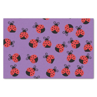 Marienkäfermarienkäferkäfer auf Lila Seidenpapier