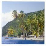 Marigot Bucht, St Lucia, karibisch Keramikfliese