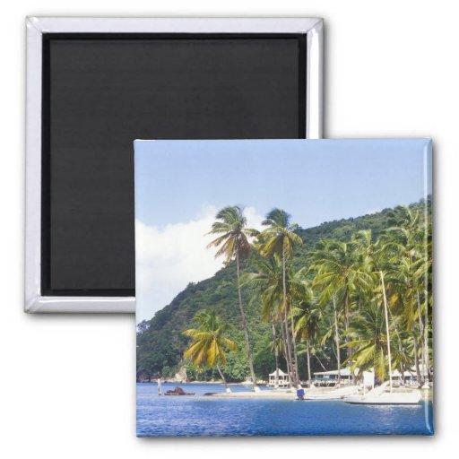 Marigot Bucht, St Lucia, karibisch Kühlschrankmagnet