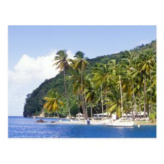 Marigot Bucht, St Lucia, karibisch Postkarte