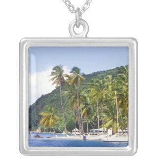 Marigot Bucht, St Lucia, karibisch Versilberte Kette