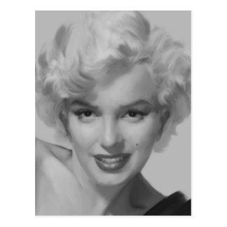 Marilyn der Blick Postkarte