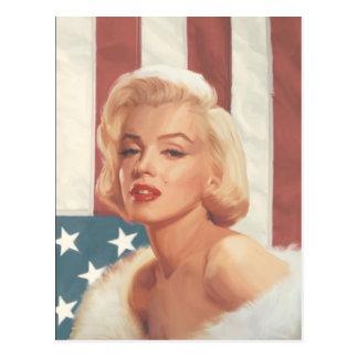 Marilyn-Flagge Postkarte