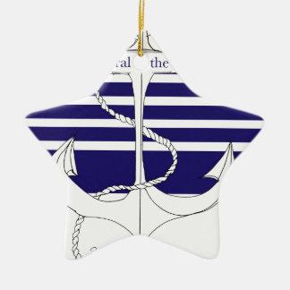 Marine-Admiral der Flotte, tony fernandes Keramik Ornament