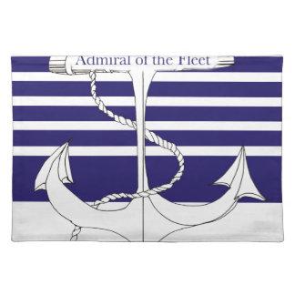 Marine-Admiral der Flotte, tony fernandes Stofftischset