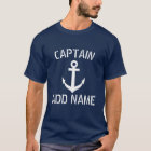 MARINE-Anker-Shirts personalisierten Bootskapitäns T-Shirt