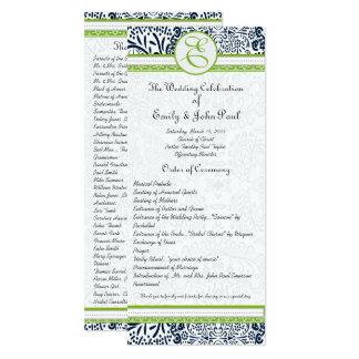 Marine-apfelgrüne graue Liebe-Vögel, die Programme Karte