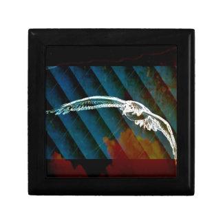 Marine-Blau-abstrakte Ozean-Vögel, die Seemöwe Erinnerungskiste
