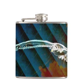 Marine-Blau-abstrakte Ozean-Vögel, die Seemöwe Flachmann